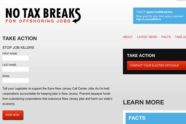 No Tax Breaks NY / NJ: No Tax Breaks NY / NJ Petition