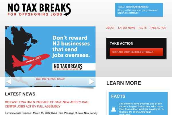 No Tax Breaks NY / NJ