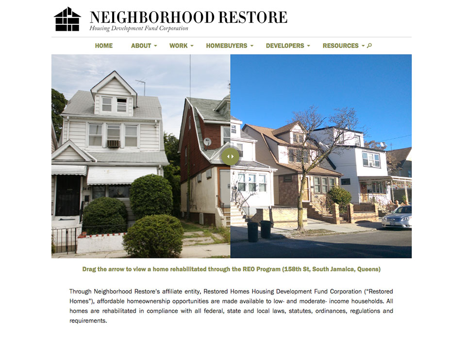 Neighborhood Restore HDFC Launches New Web Platform!