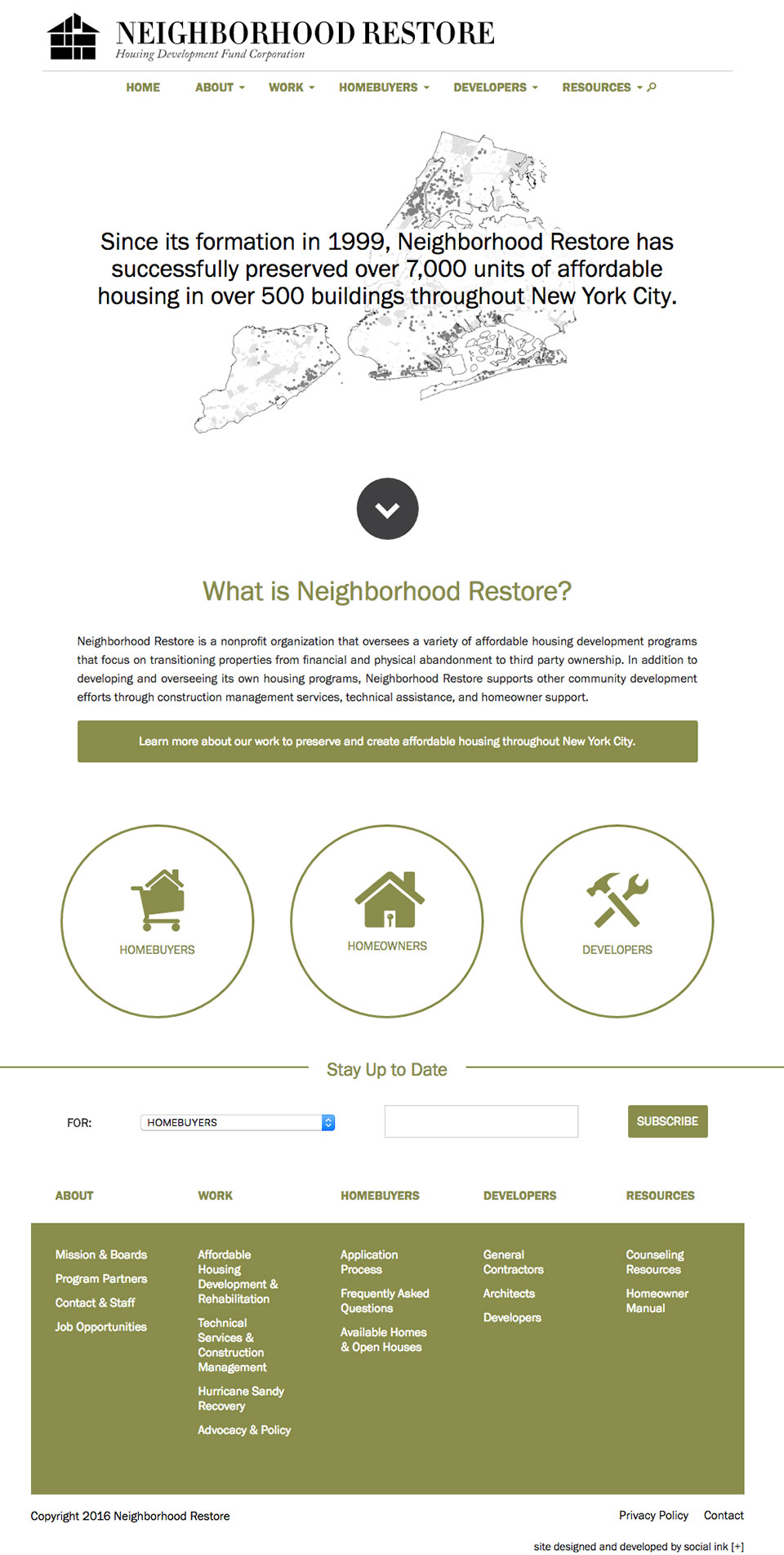 Neighborhood Restore HDFC: Neighborhood Restore Full Homepage