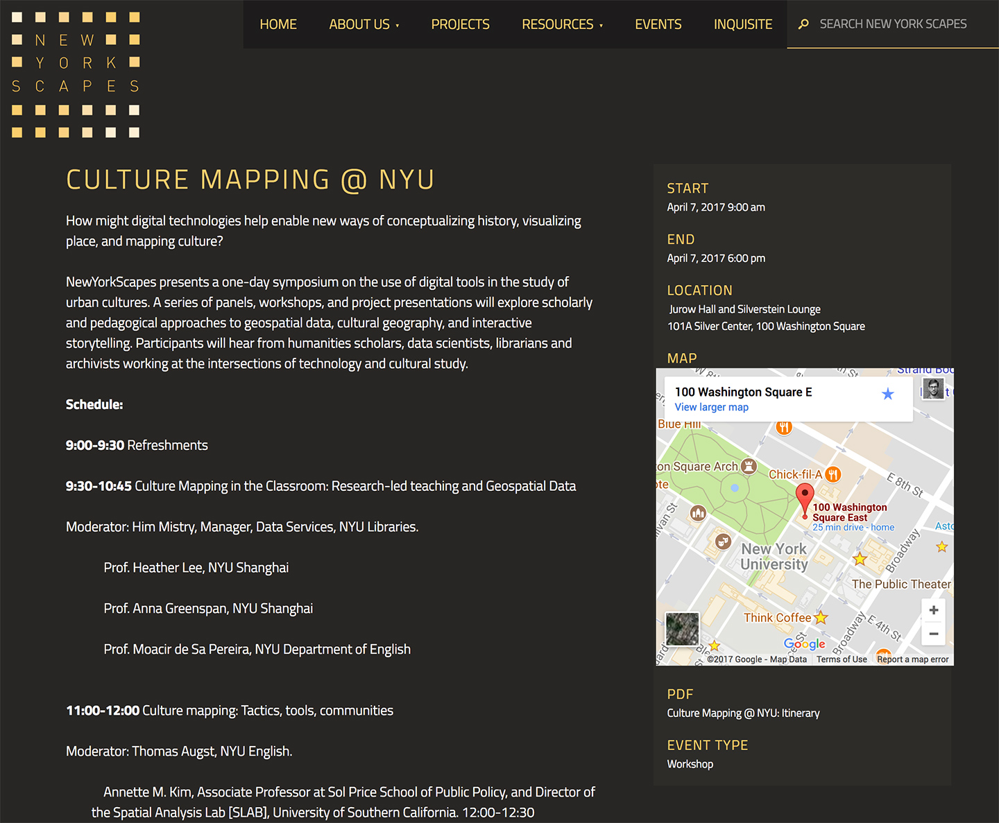 NewYorkScapes: NewYorkScapes Events