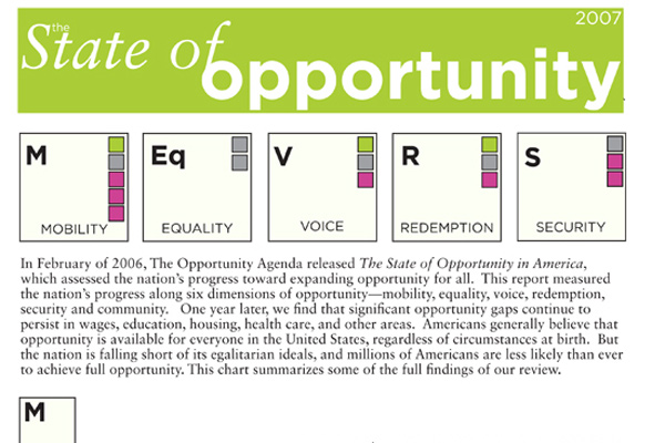 Opportunity Agenda Annual Report
