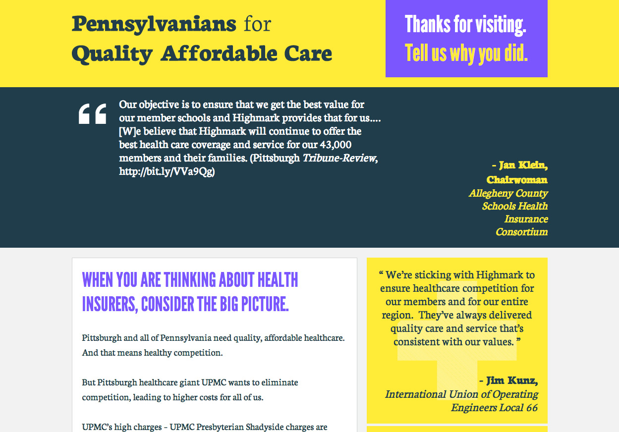 Pennsylvanians for Quality Affordable Healthcare