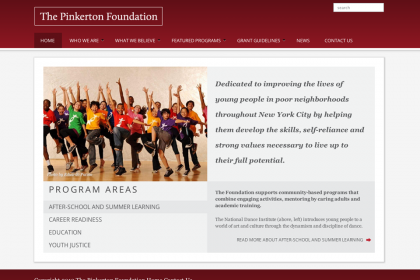 Pinkerton Foundation Homepage | Websites for Foundations