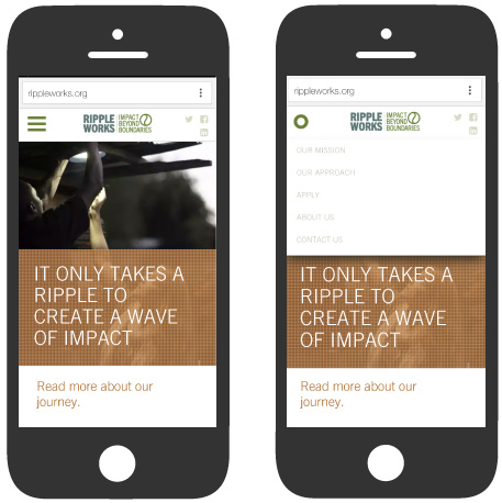 RippleWorks: Mobile Responsive Layout
