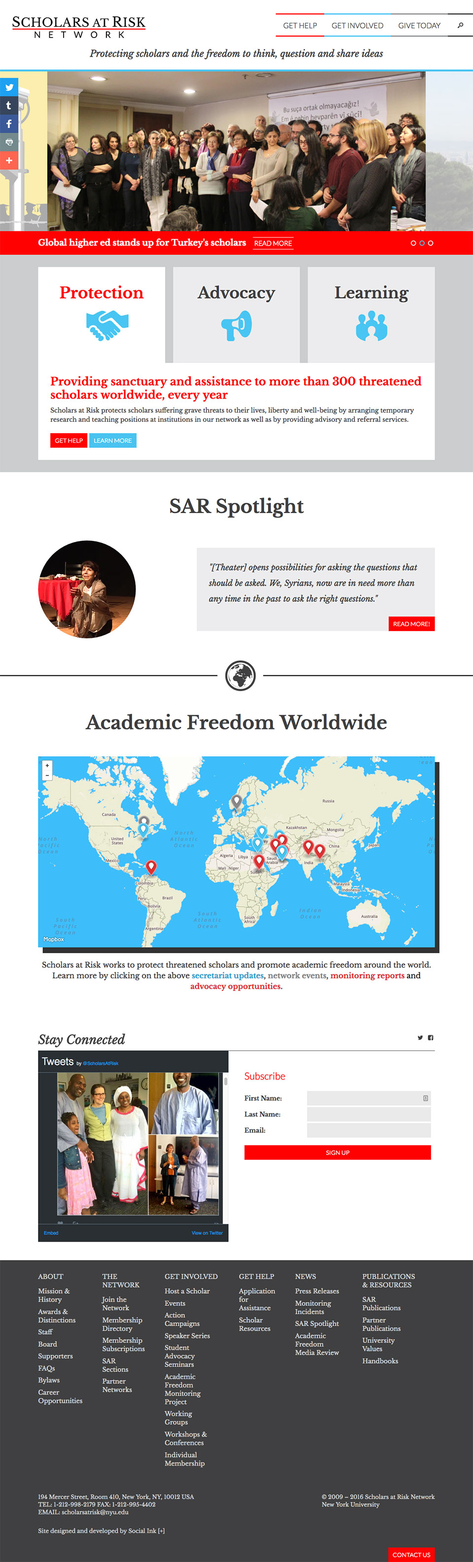 Scholars at Risk at NYU: Scholars at Risk Homepage