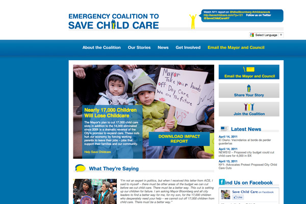 Save Child Care Homepage