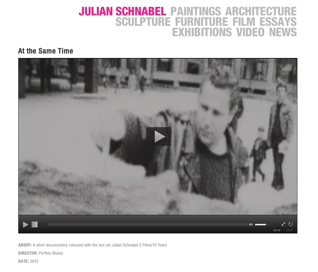 New Videos from Julian Schnabel