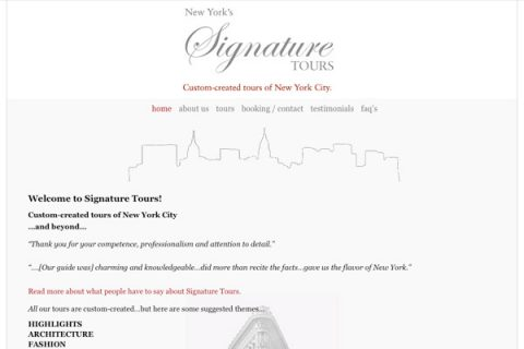 Signature Tours Homepage