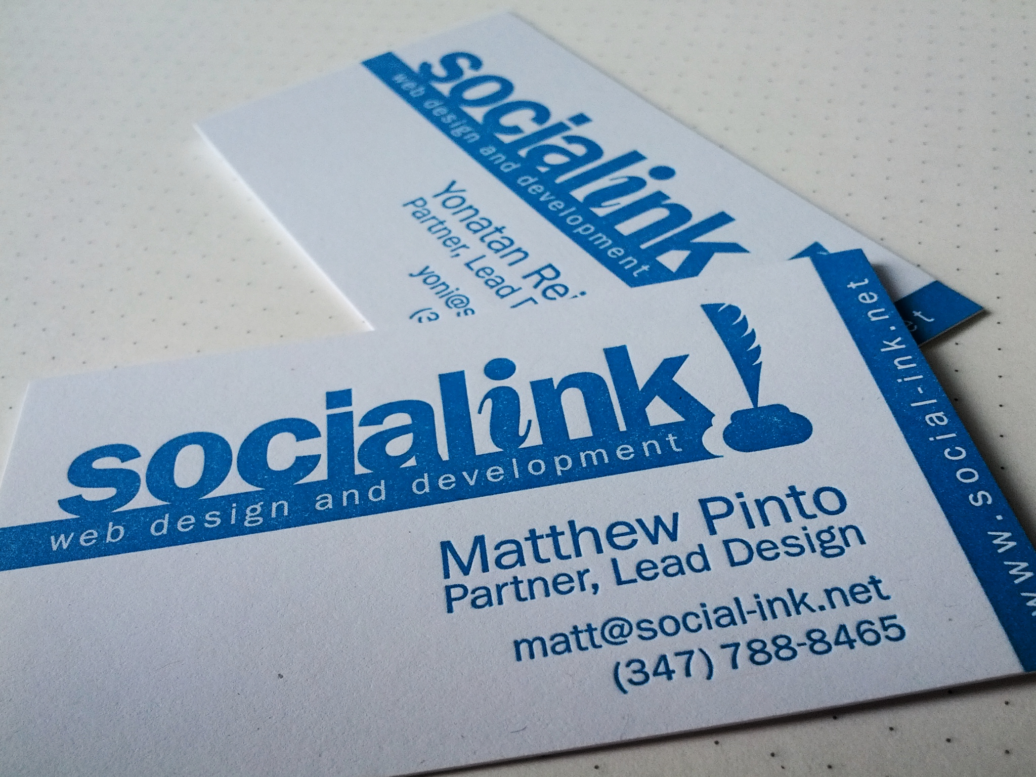 Our new business cards are here!