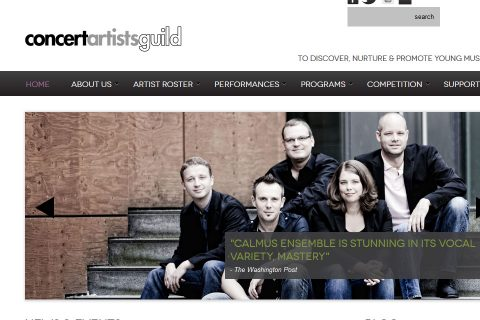 Welcoming home page wtih customizable slider content