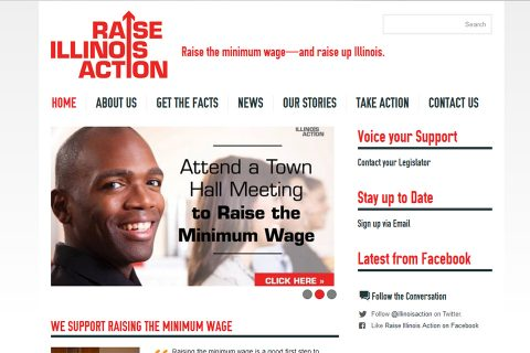 Raise Illinois Action Homepage by Social Ink