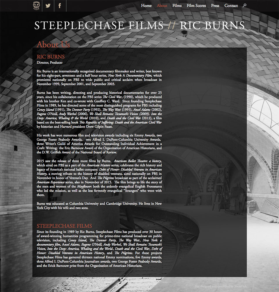 Steeplechase Films: About