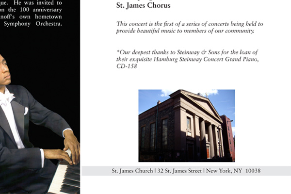 Felix Spangler: Concert at St James Church: Recital Program