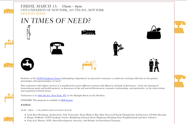 In Times Of Need: Times of Need Homepage
