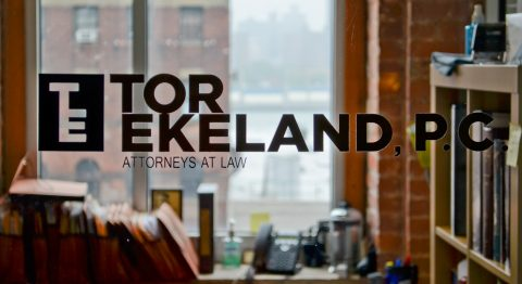 Tor Ekeland Logo and Web Design for Lawyers by Social Ink