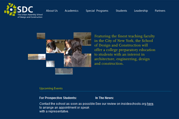 Urban Assembly School of Design and Construction:  Website