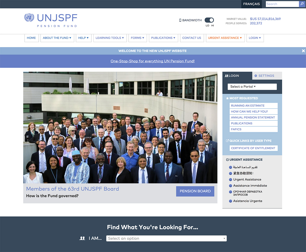 United Nations Joint Staff Pension Fund: UNJSPF Home