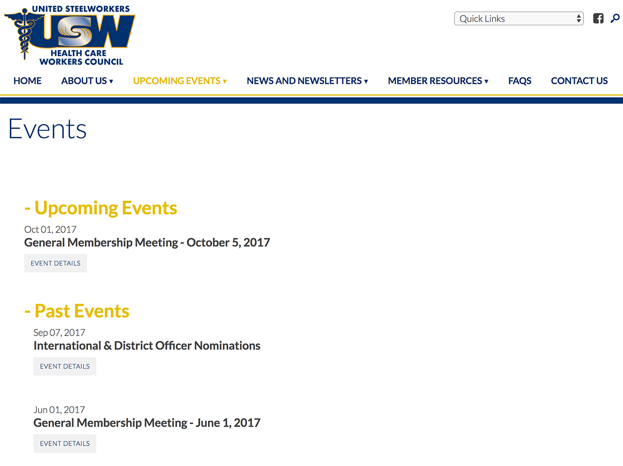 United Steelworkers Local 4-200: Automatically Sorted Past and Upcoming Events Archive