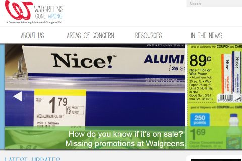 Walgreens gone Wrong Homepage - Social Ink