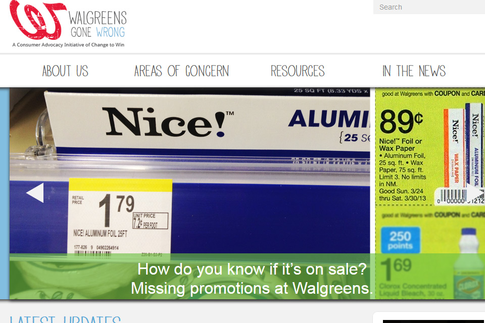 Walgreens Gone Wrong! A new consumer watchdog project and advocacy site.