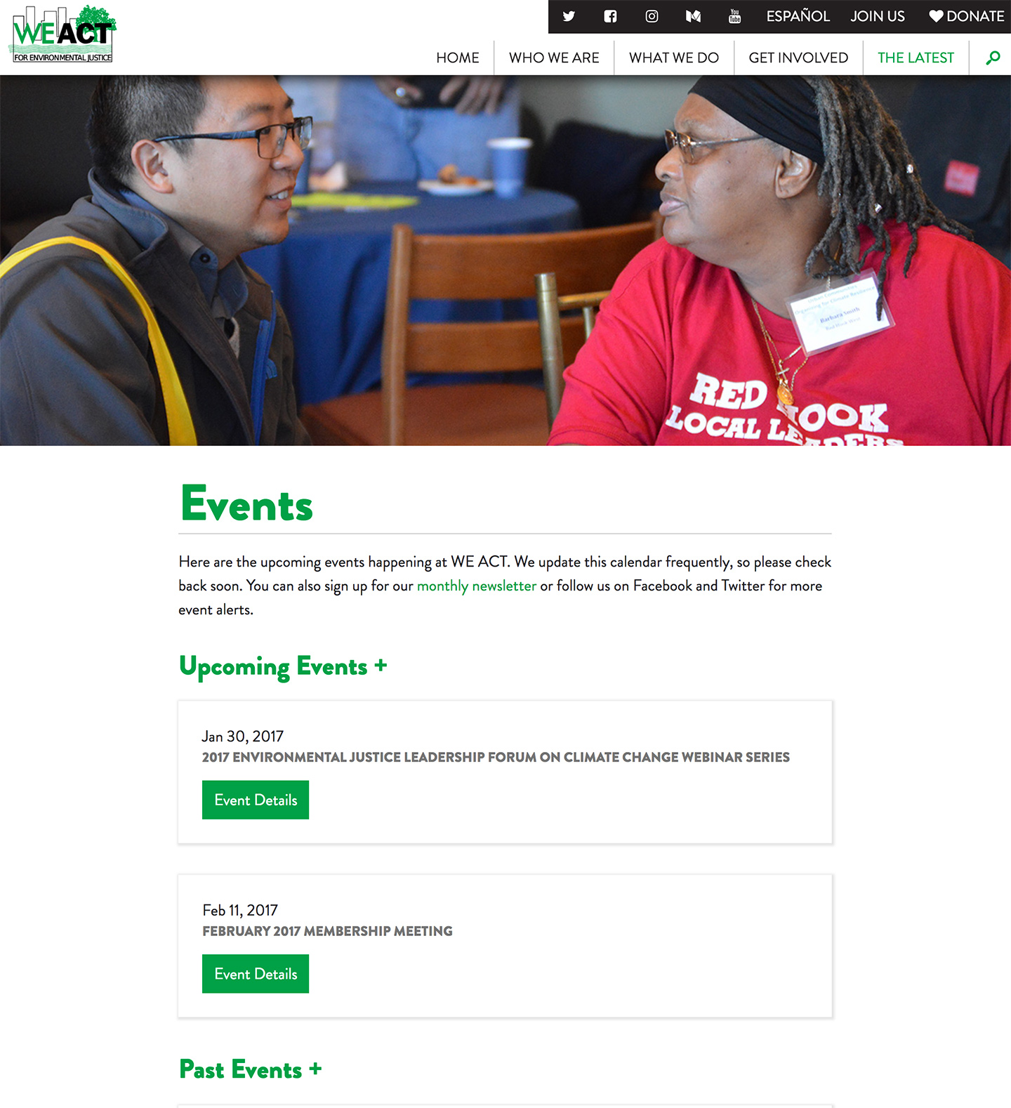 West Harlem Environmental Action, Inc.: WEACT Automated Events Listing