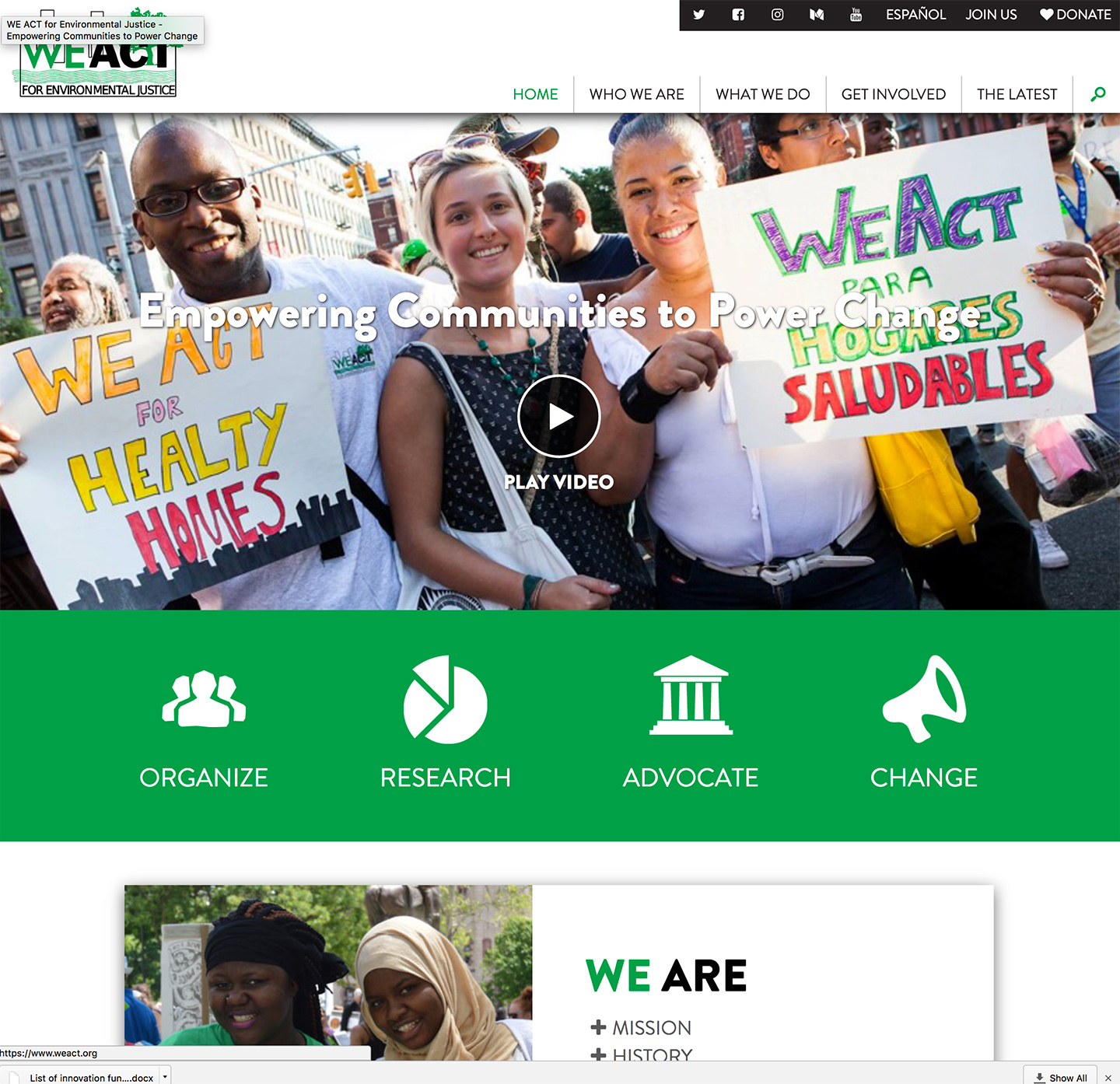 West Harlem Environmental Action, Inc.: WEACT Homepage