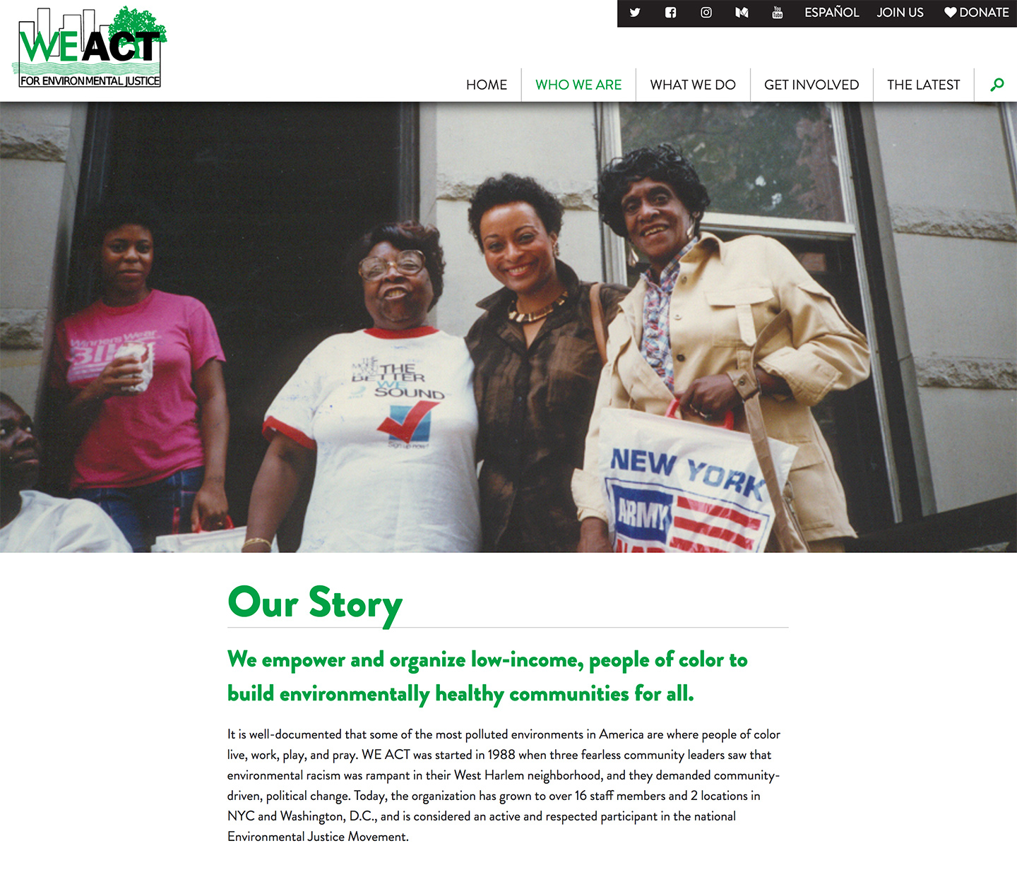 West Harlem Environmental Action, Inc.: WEACT Stories