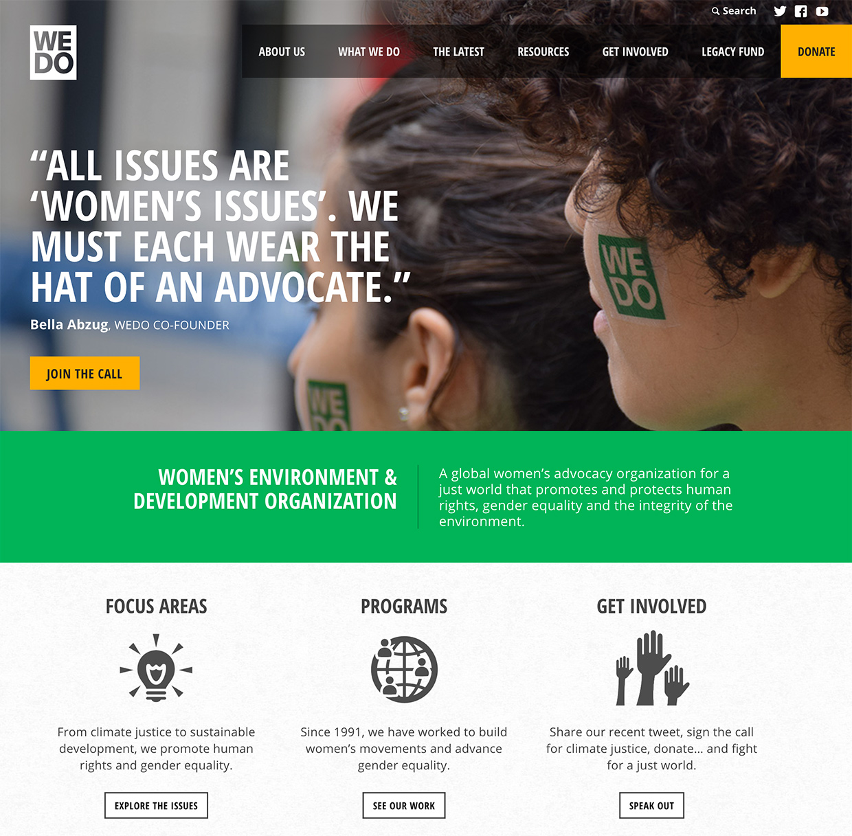 Women's Environment & Development Organization (WEDO): WEDO Home
