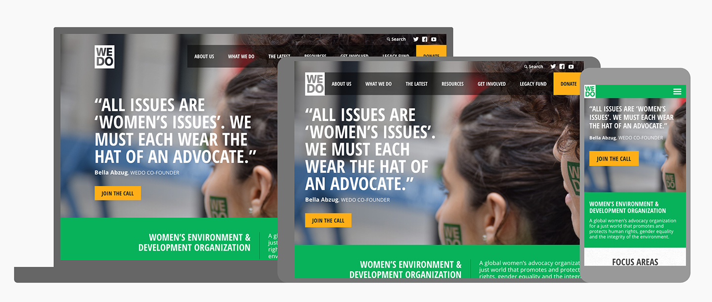 Women's Environment & Development Organization (WEDO): WEDO Responsive Layout