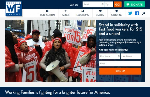 Working Families: Home - Websites for progressives and political organizaitons
