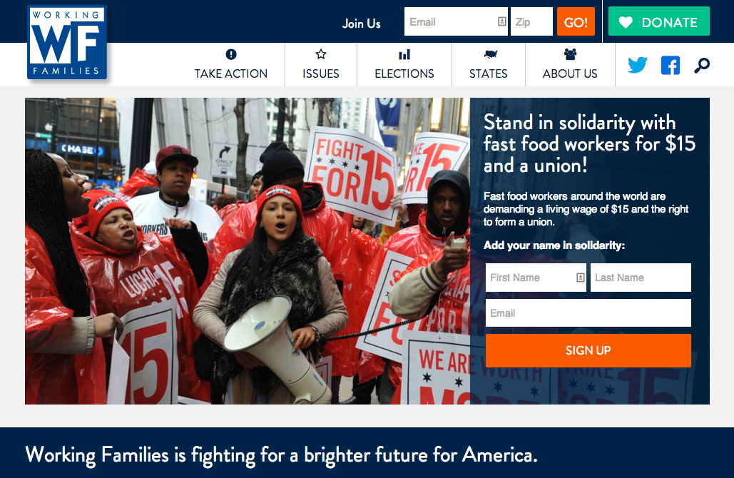 Building for Growth: A new website for Working Families