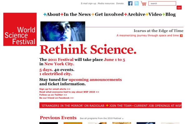 World Science Festival: World Science Festival Homepage